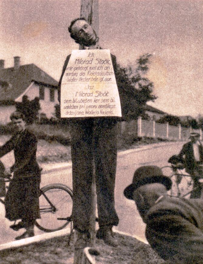 - Suspected Partisan Hung by the Nazis