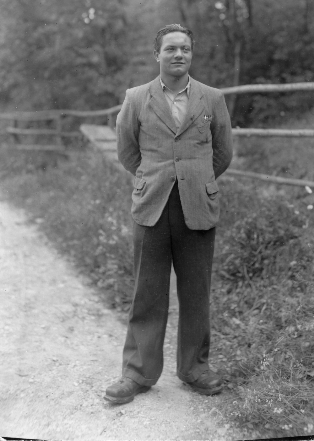 """- Leopold """"Polde"""" Lobnik: Captured by the Nazis and Incarcerated at Flossenbürg and Dachau Concentration Camps."""