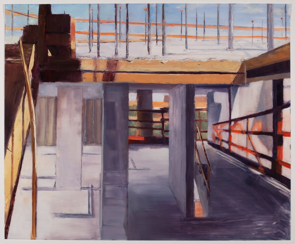 Study for 163rd St V1 , 2017 oil on dura-lar, 14 x 17 in