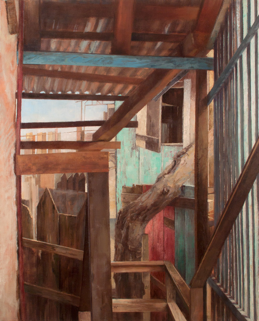 Entry , 2011 oil on linen, 48 x 39 in