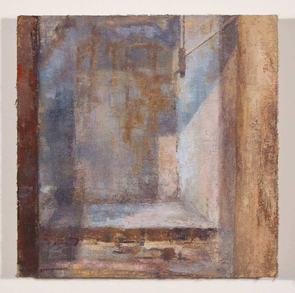 Umbrian Stairwell 3 , 2011 oil on muslin mounted on board, 8 x 8 in