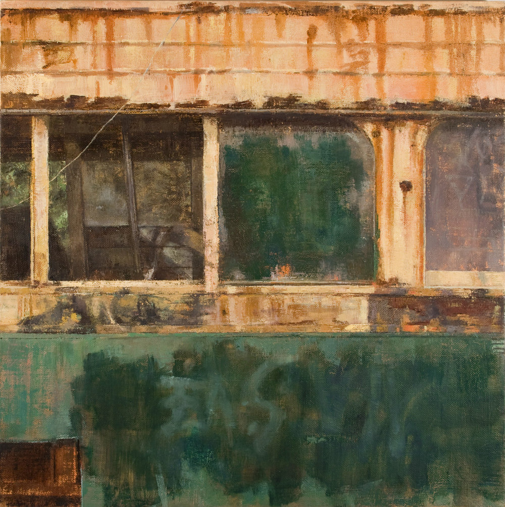 Falls Rd Streetcar,  2011 oil on linen, 34 x 34in