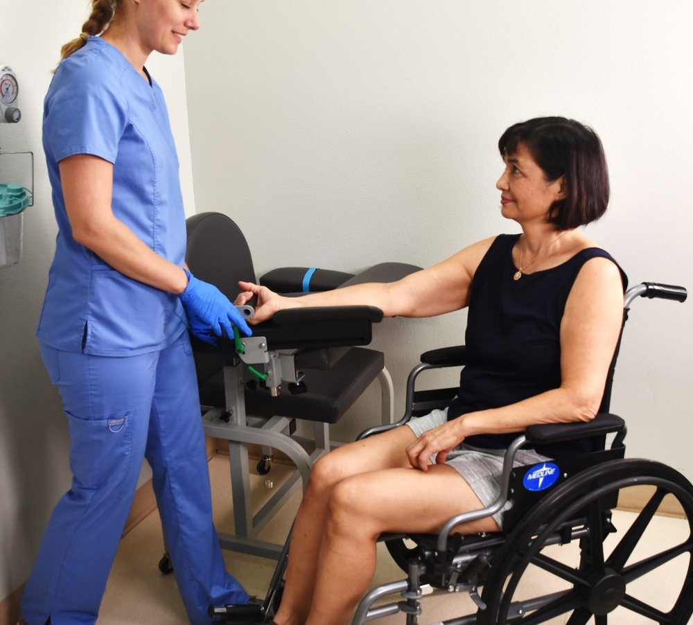 Works for wheelchair patients