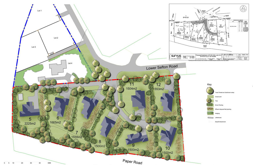 Snellex: Application for land use change on the edge of the Ashley village.
