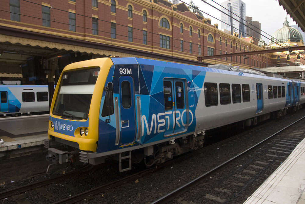 by Train - The Southern Cross Station is just a short stroll from the Melbourne Exhibition and Convention Centre. It is a short walk from Southern Cross station or you can 96, 109 or 12 tram routes and arrive at MCEC in three stops. Southern Cross station has both metro/city trains (all lines) and the V-Line/country trains arrive there, and also is the destination for the SkyBus from Melbourne/Avalon Airport.Download the PTV app on your smart phone or click here to plan your journey by train.