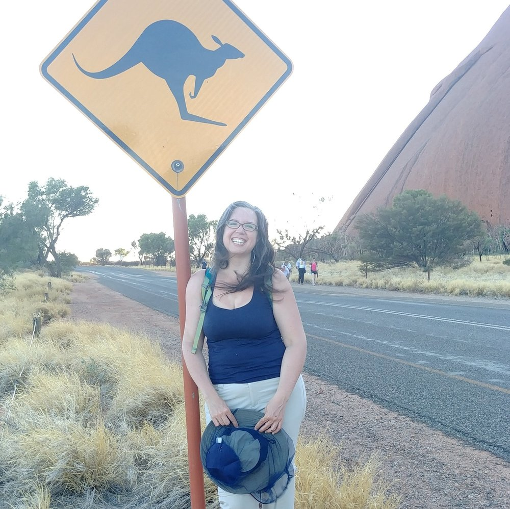 Near the base of Uluru