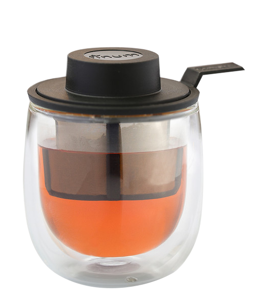Hot Glass - The finum® glass systems are equipped with perfectly matching permanent filters – a simple and elegantsolution for individual tea brewing. Each system comes with a hat to prevent heat loss and to serve as drip-off tray after brewing. The double-wall glass keeps your drinks hot longer.