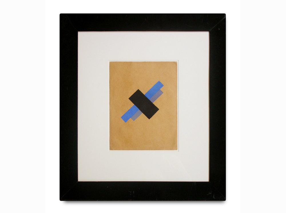Kazimir Malevich    Suprematism |  1927 | gouache on paper | 32,5 x 24,6 cm.