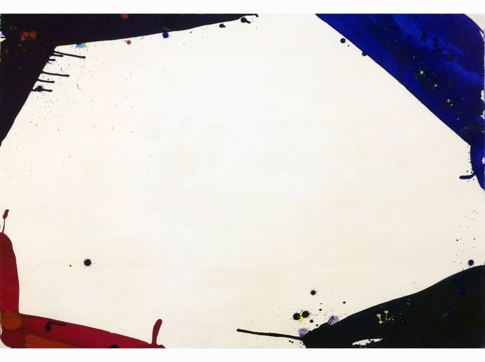 Sam Francis   Untitled |  1966 | enamel on cardboard | 75 x 107 cm.
