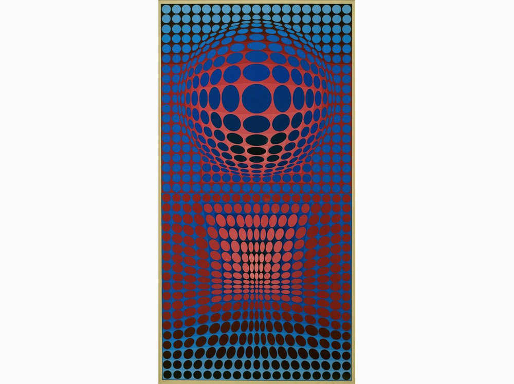 Victor Vasarely      Untitled  | 1972 | silk-screen painting | 105 × 62 cm.