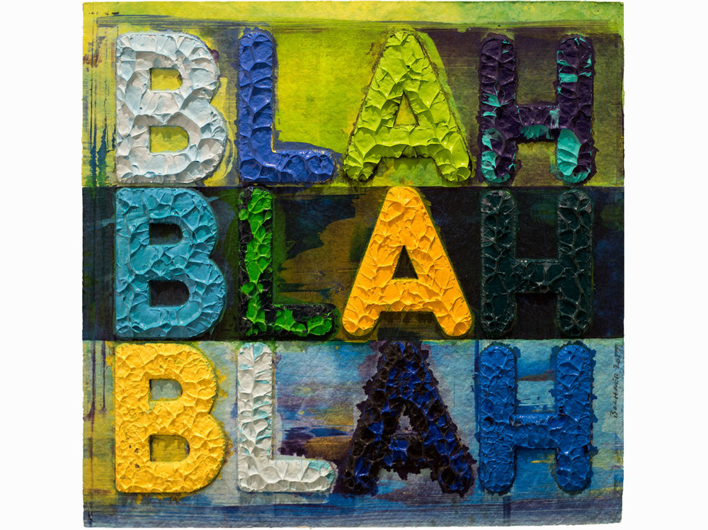 Mel Bochner   Blah, Blah, Blah  | 2017 | collage | 38 × 36 cm.