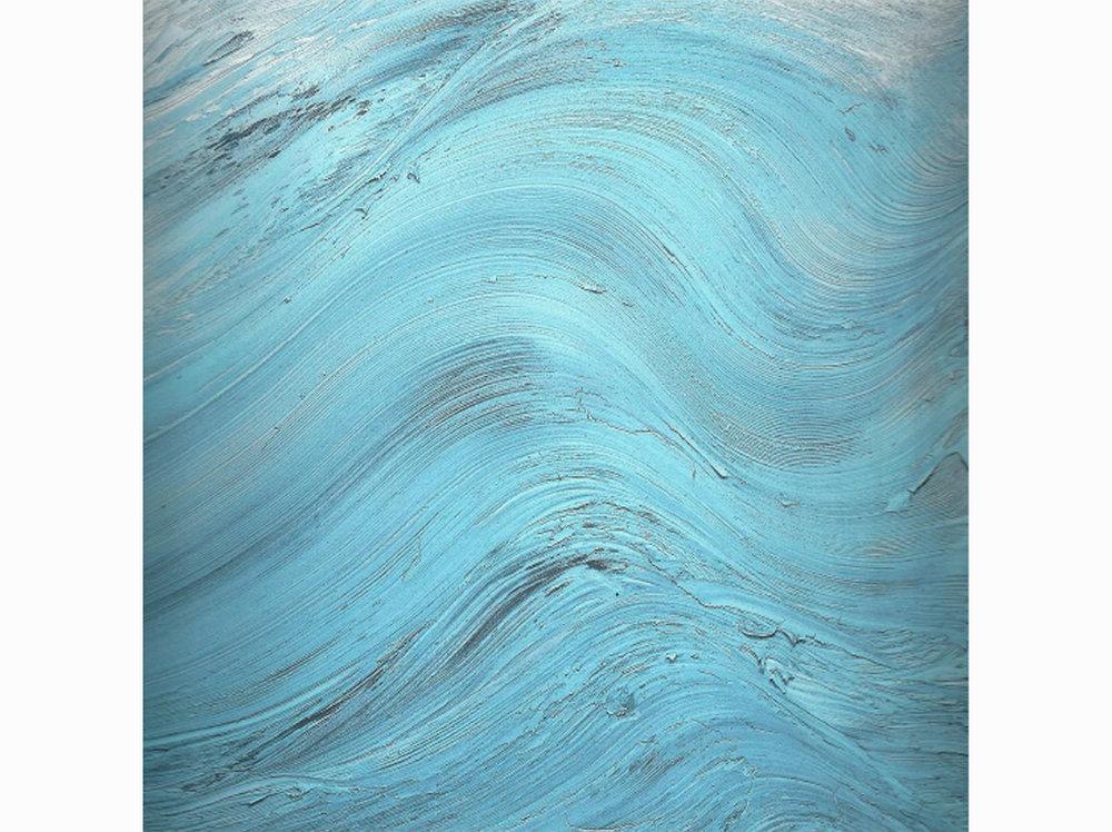 Jason Martin   Cap  | 2008 | mixed technique on aluminum | 195 × 195 cm.