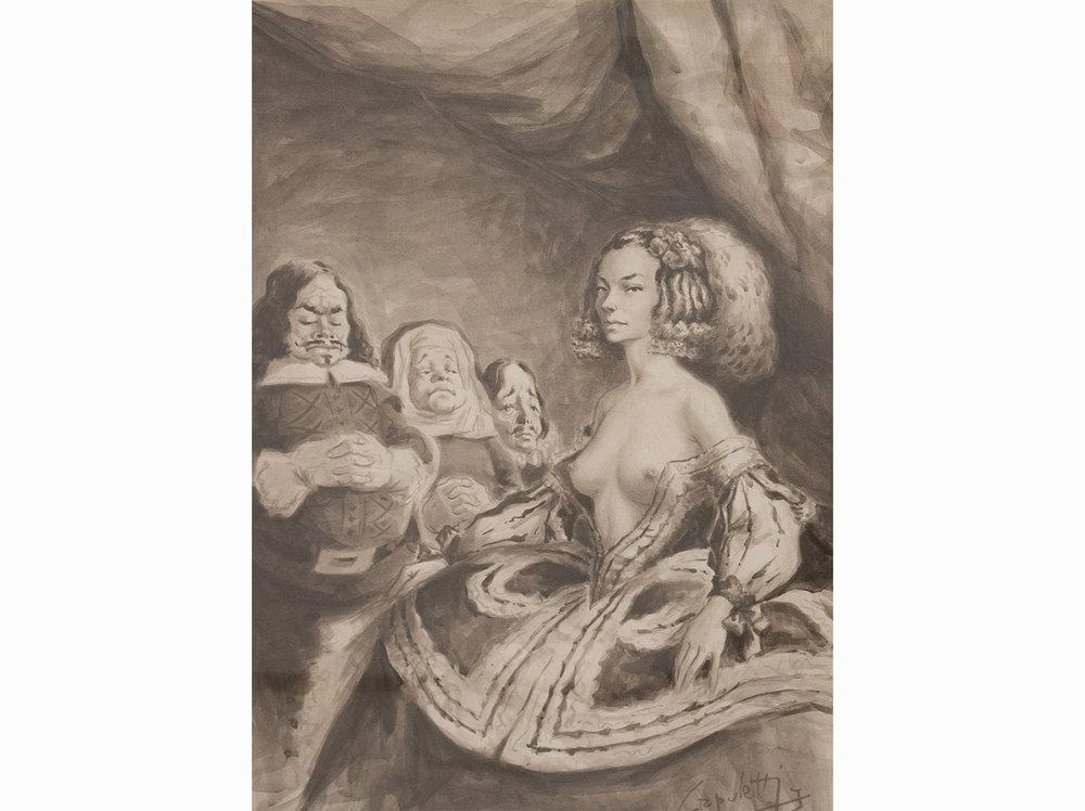 José Manuel Capuletti   Untitled |  watercolor on paper | 65,5 x 47,5 cm.
