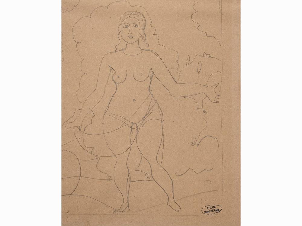 André Derain   Nu Debout |  c. 1907 | lead mine on paper | 25 x 20 cm.