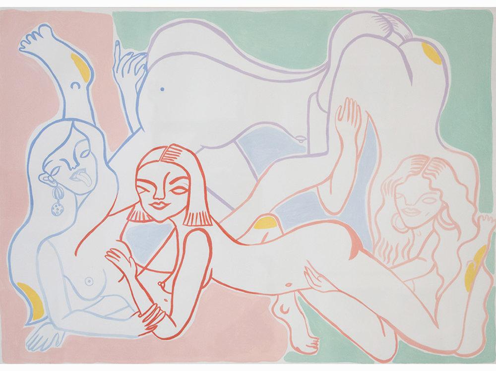 Miranda Makaroff   Untitled |  2017 | watercolor | 49,5 x 69,5 cm.