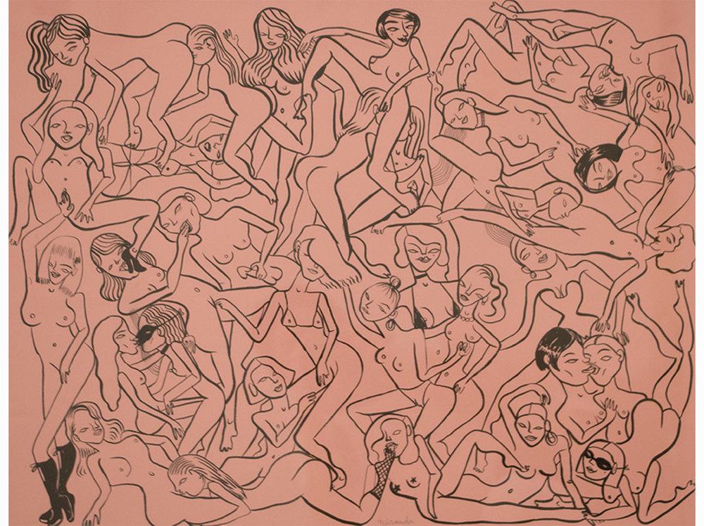Miranda Makaroff   Untitled |  2017 | marker and ink on paper | 49,5 x 64,5 cm.