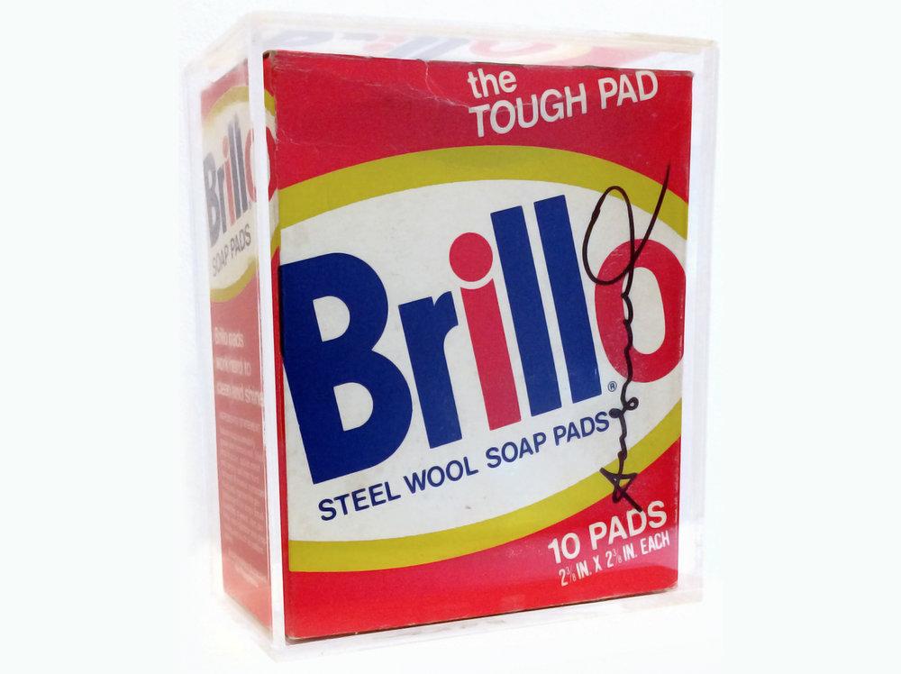 Andy Warhol    Brillo Box  | 1980 | cardboard | 16,5 x 13,5 x 6,5 cm.
