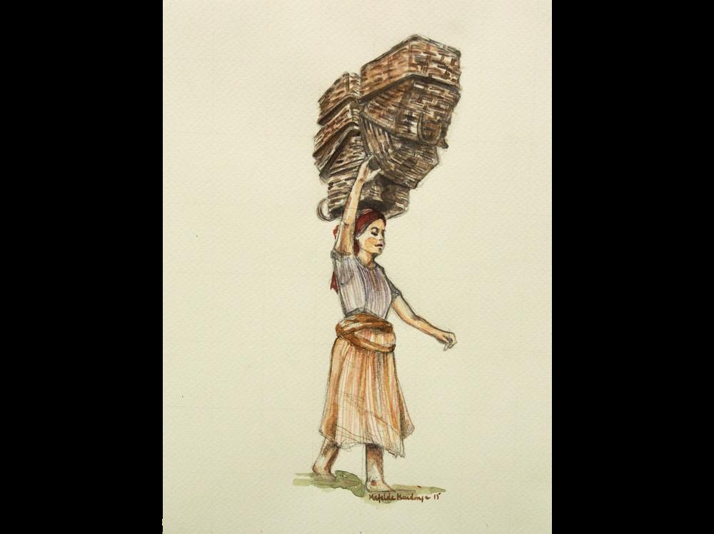 Mafalda Mendonça   Elevação |  2015 | watercolor and pencil on paper | 23 x 18 cm.