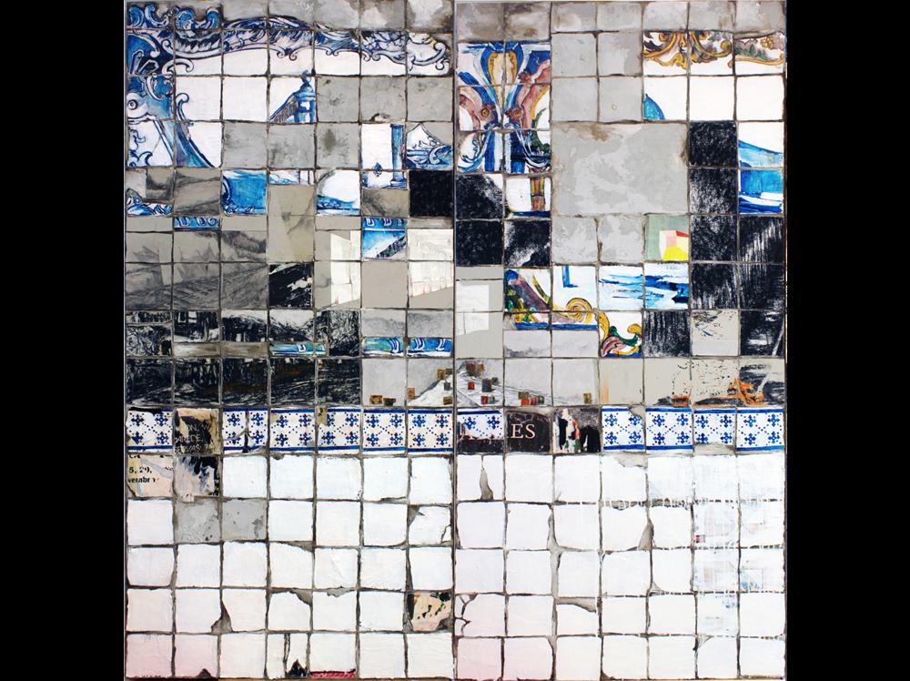 Manuela Pimentel   Pouca Terra, Pouca TUA  | 2018 | acrylic, cement and varnish, plywood on panel 215 x 100 cm + 215 x 100 cm.