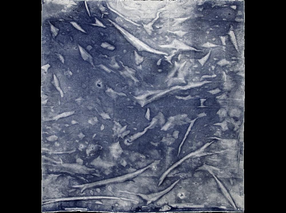 Maria Trabulo   Wine Dark Sea  | 2016 - 2017 | sea water on canvas | 150 x 150 cm.