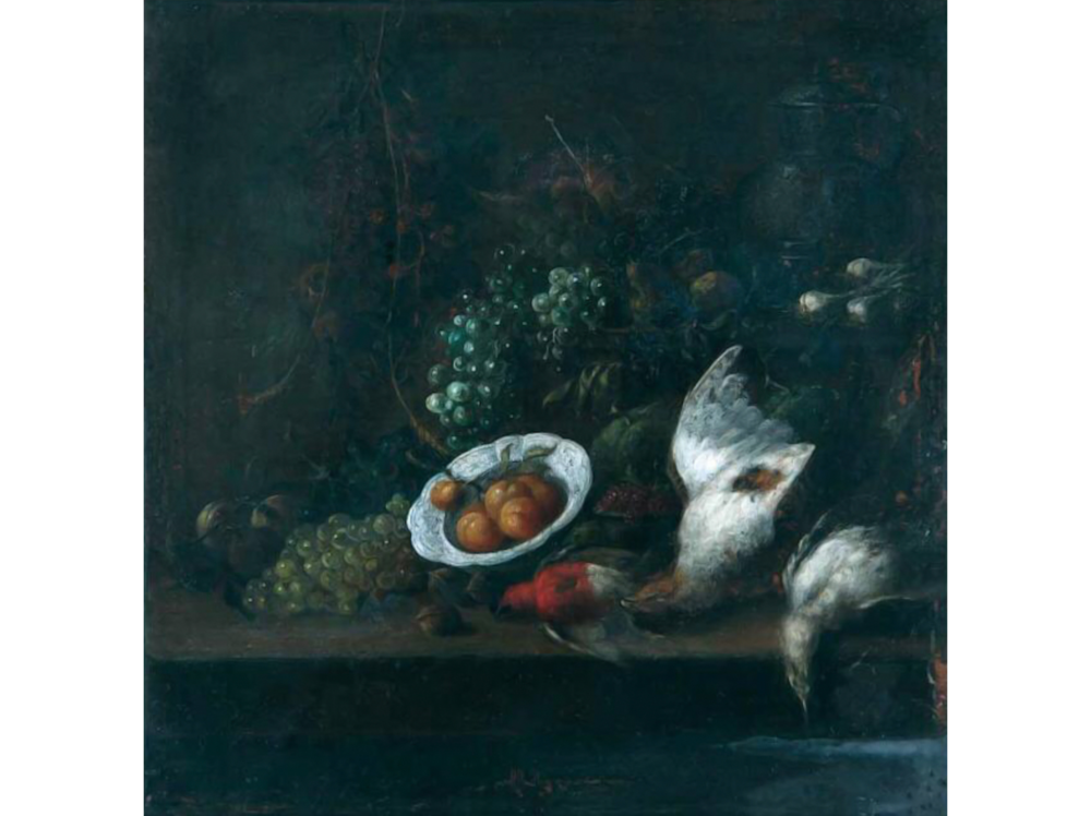 Jan Pauwel Gillemans II   Still life with dead birds      | oil on canvas | 15 x 14 cm.