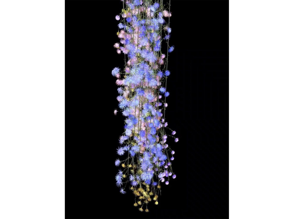 Jennifer Steinkamp   Rapunzel 6      | 2005 | digital projection | variable, approx. 3 m. high
