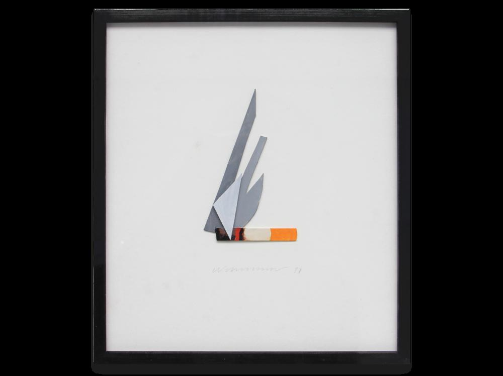 Tom Wesselmann    Smoking Cigar  | 1998 | liquitex on bristol board | 18 x 16 cm.