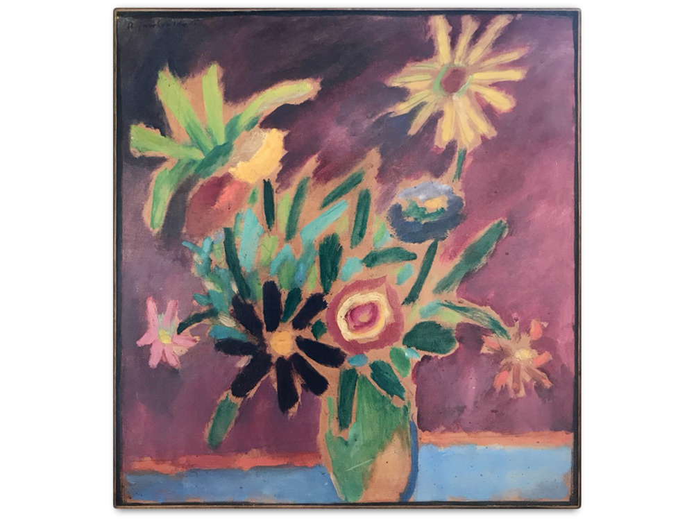 Alexej von Jawlensky    Bunte Blumen      | 1915 | oil on cardboard | 52 x 49 cm.