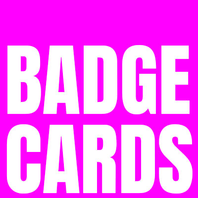 Cards with Badges - Button Badges / Enamel Pins