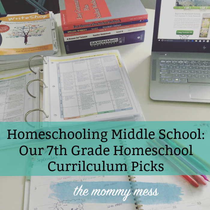7th Grade Homeschool Curriculum Picks