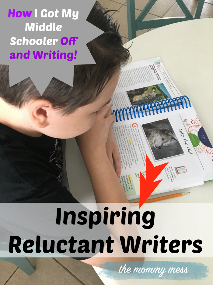 Homeschool Writing in Middle School: How To Inspire a Reluctant Writer