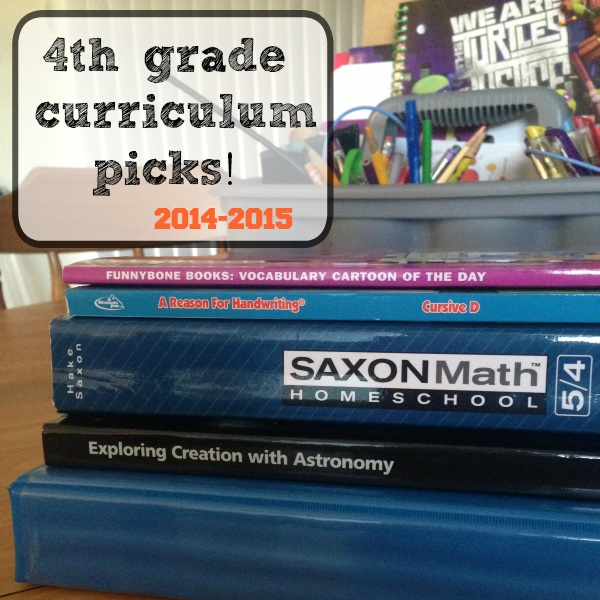Our 4th Grade Homeschool Curriculum Picks