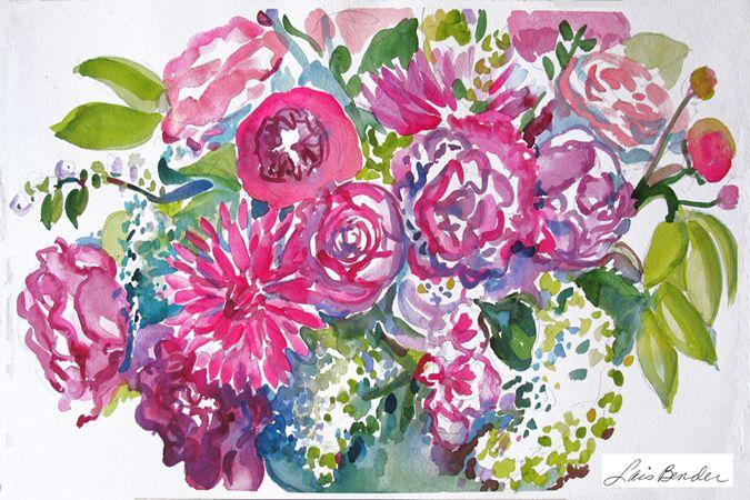 """Peonies, Roses and Dahlias"" ( More Flowers at www.GardenSpiritsNY.com )"