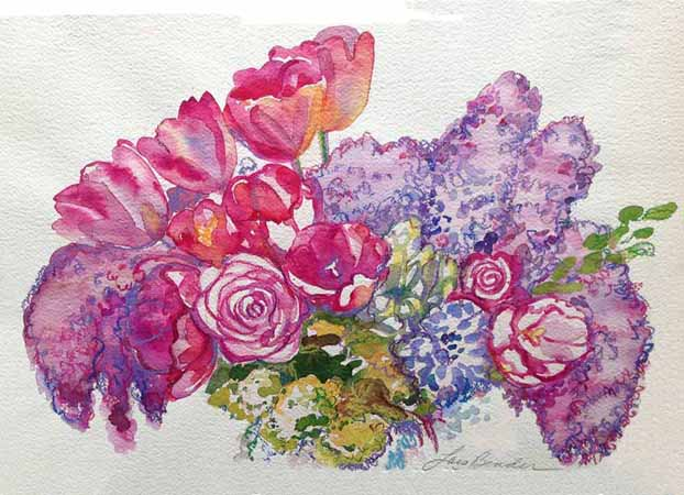 """Lilacs, Tulips and Roses II"""