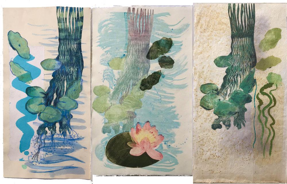 Lily Pond Triptych