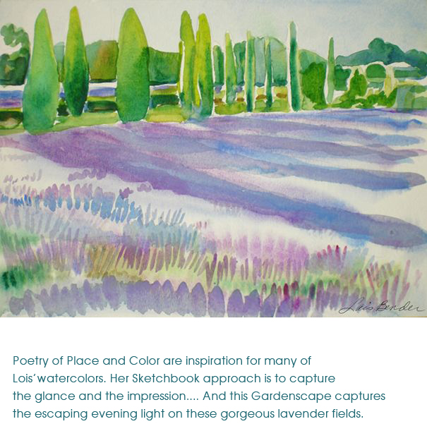 Tuscan Cypresses and Lavender Fields