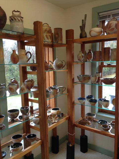 You will find the largest selection of pottery at the  studio  in Rindge.