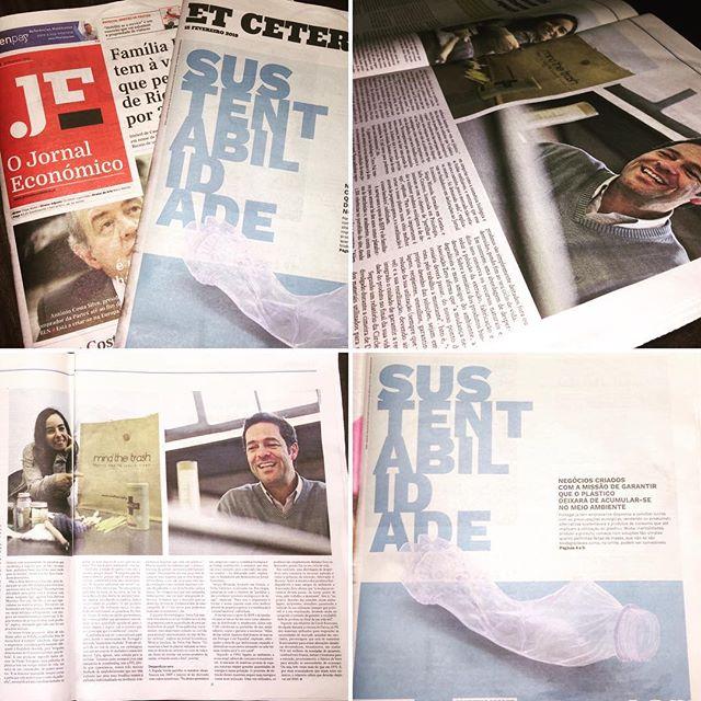 Hoje partilhamos a nossa história no caderno Et Cetera do #jornaleconomico , com um enquadramento, para nós natural, de um projecto com preocupações ambientais e sustentáveis. Se tiveres oportunidade compra o jornal e fica também a conhecer outros fantasticos projetos: @mindthetrash , @desperdiciozer0 , @tetrapak  Obrigado a toda a equipa em geral e à Jéssica Sousa em particular. 💪💪💪🌍🌍🌍 . . . . . . #palhinha #palhinhademassacomestivel #straw #pastastraw #noplastic #plasticfree #world #betterworld #mundo #mundomelhor #semplastico #zeroplastic #apalhinha #nostraw #m0p #movimentozeroplastico #nostraw #sempalhinhas #turtle #turtles #bird #birds #seagull #seagulls #earthfriendly #amigadomundo #sustentabilidade #jornaleconomico #etcetera