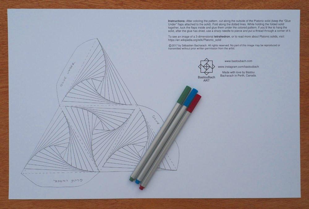 Optical Illusion tetrahedron