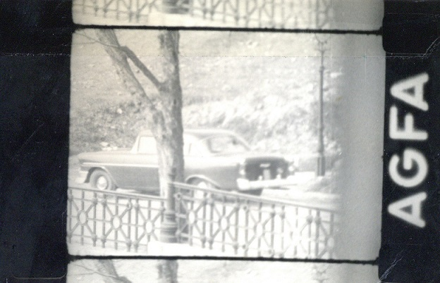 The American attaché on the secret surveillance photo of the Hungarian Communist State Security in 1957.