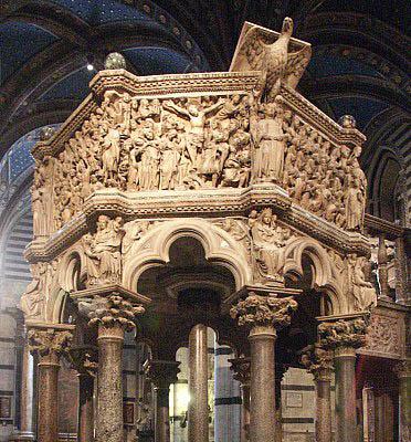 Siena,  Duomo pulpit