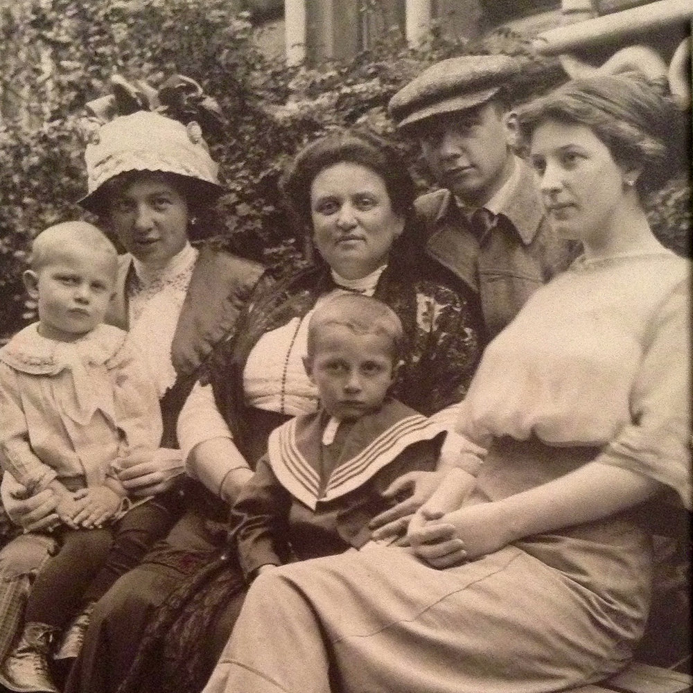 """The Luboshutz family circa 1911   From left to right: Lea with Boris, Katherine (""""Gitel"""") with Yuri, Pierre, and Anna Luboshutz. Courtesy of the Luboshutz-Goldovssky-Wolf family archive."""