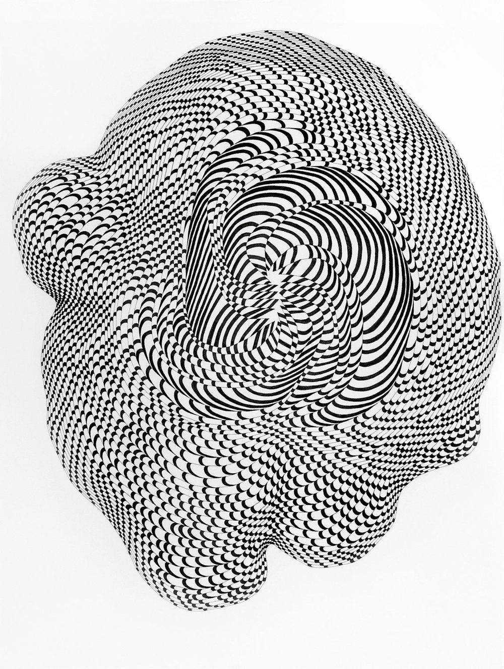 Checkmarks 5 ,  2016    ink on paper 40 x 30 in (102 x 76.2 cm)