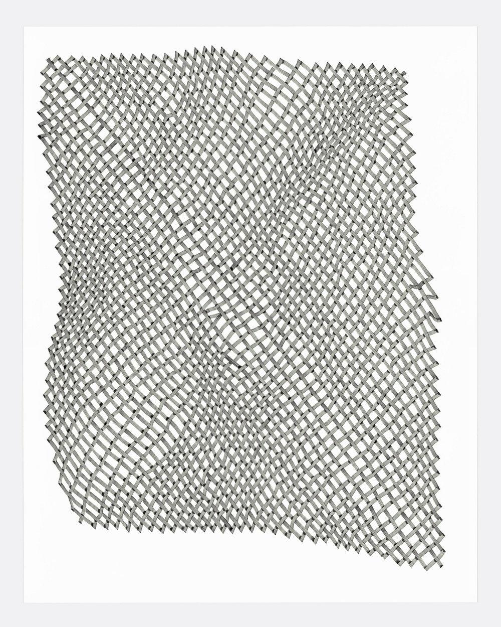 Woven Lines 4 ,  2019   acrylic on yupo medium 14 x 11 in (35.56 x 27.9 cm)