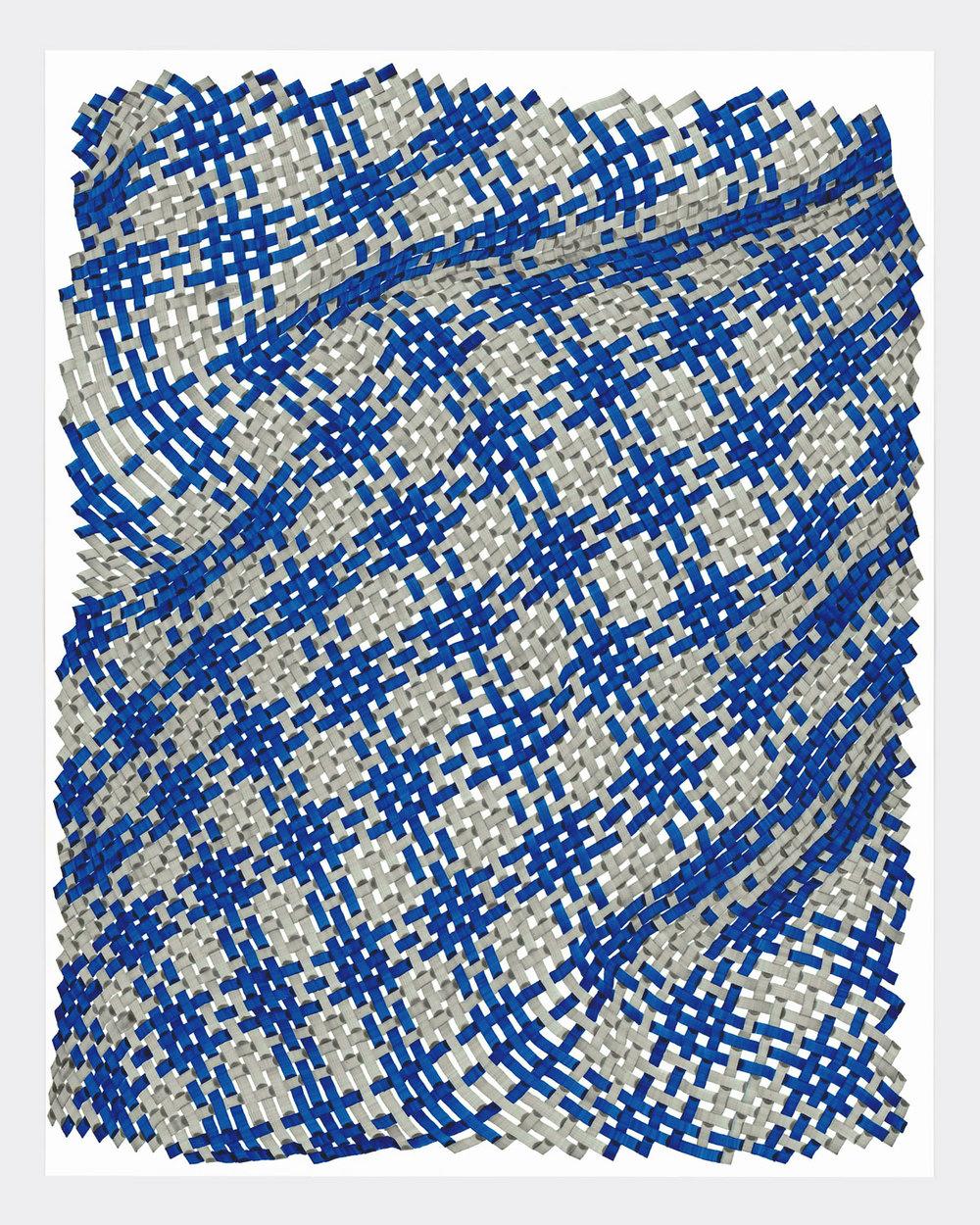 Woven Lines 6 ,  2019   acrylic on yupo medium 14 x 11 in (35.56 x 27.9 cm)