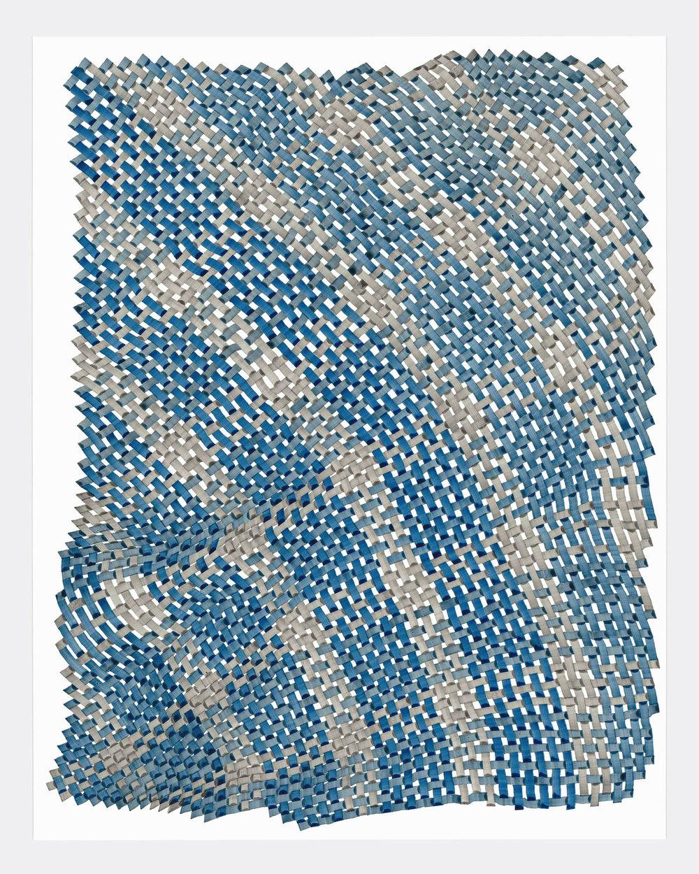 Woven Lines 7 ,  2019   acrylic on yupo medium 14 x 11 in (35.56 x 27.9 cm)