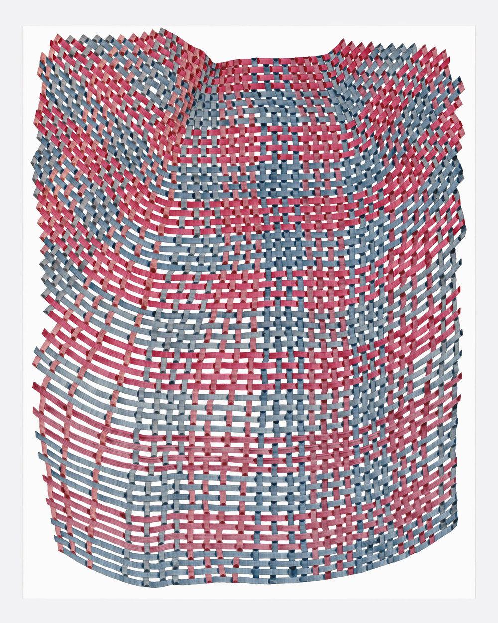 Woven Lines 8 ,  2019   acrylic on yupo medium 14 x 11 in (35.56 x 27.9 cm)