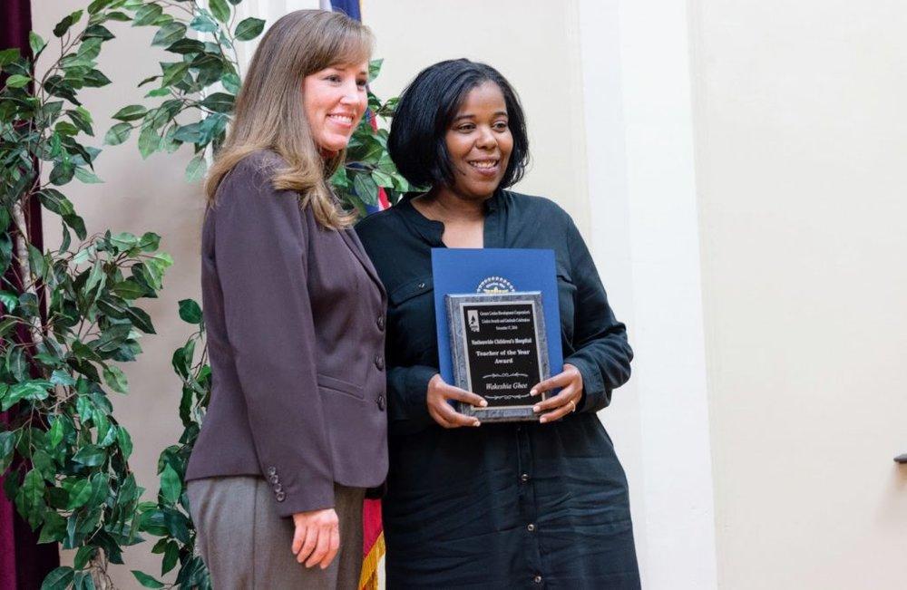Wakeshia Receiving Award