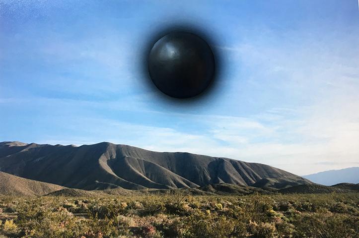 """Sun (bump) , 2018, Édition de 3, épreuve à développement chromogène et époxy, 8 x 11""""."""