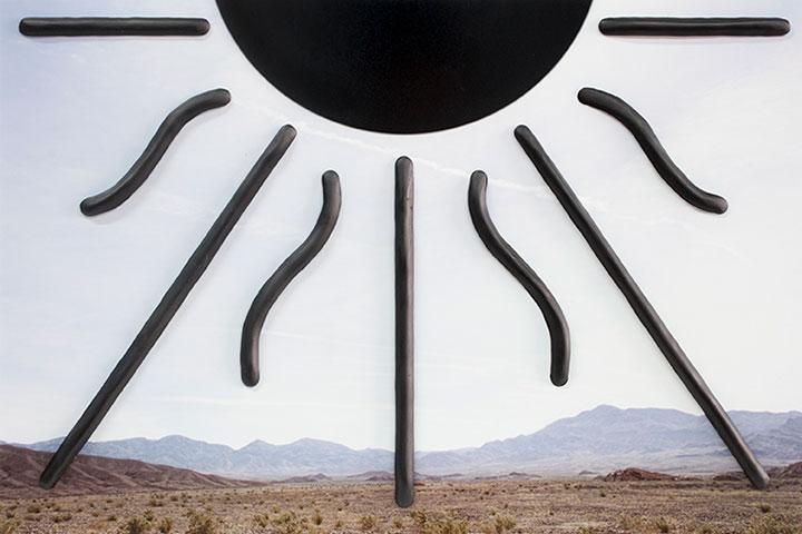 """Sun (pyramid) , 2018, Édition de 3, épreuve à développement chromogène et époxy, 9 x 14""""."""